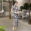 Free Shipping Chinese Lady Silk Satin Long Cheongsam Qipao Bridesmaid Evening Dress/Qipao Size S M L XL XXL C0014-A