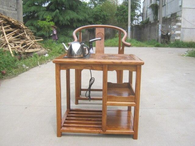 Ming y Qing olmo antiguo mesa de centro de madera con tallado de ...