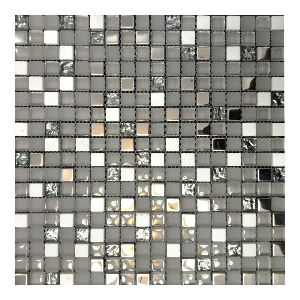 wei en stein silber berzug kristallglas mosaik fliesen. Black Bedroom Furniture Sets. Home Design Ideas
