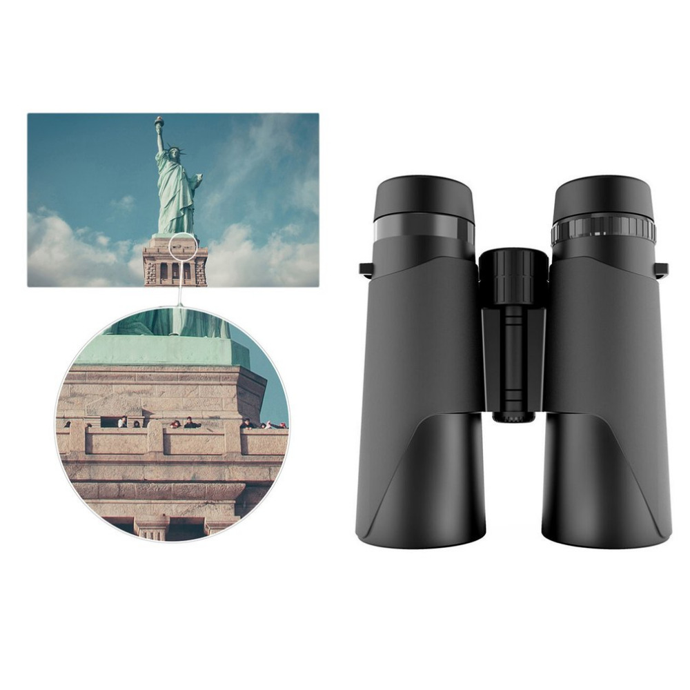 12X42 Zoom HD Binocular Telescope BAK4 Prism Non-infrared Night Vision Spotting Scope Waterproof Outdoor Telescope Binoculars binocular telescope non infrared night vision binoculars camping hunting spotting scope telescopes support drop shipping