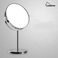 Bath Mirrors 8 Inch Round Wall Mirror Table Magnifying Mirrors Makeup Cosmetic Golden Double Side Brass Mirror For Bathroom Sj16