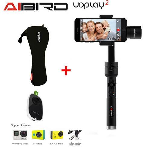 Aibird uoplay 2 constante de mano de alto brillo de $ number ejes cardán estabilizador para smartphone para gopro & cámara de acción pk zhiyun suave c