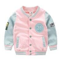 בני בגדי 2018 ילדי אביב ילדי מעיל בנות הלבשה עליונה תינוק בייסבול קוריאה סגנון Mix צבע למעלה משלוח חינם