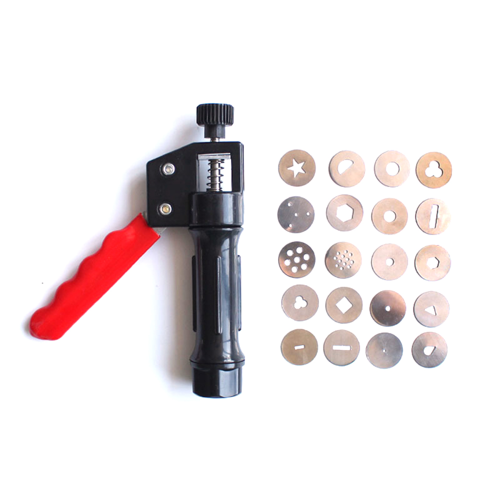 Hand-held Stainless Steel Rotary Mud Gun For Ceramic Soft Clay Extruder Pottery Modeling Auxiliary Art Tools