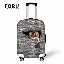 FORUDESIGNS Waterproof Travel Luggage Protective Dust Cover Elastic Wolf Printing Dustproof Suitcase Cover Luggage Accessories недорого