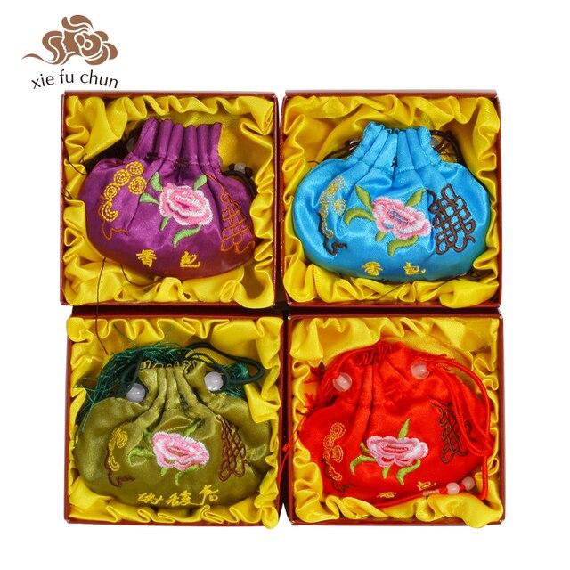 Xiefuchun Chinese 4 Scents Sachets Gift Box Car Perfume Brand Herb Fragrance Air Fresh Perfume Fragrance Deodorat Bag XFC11-8