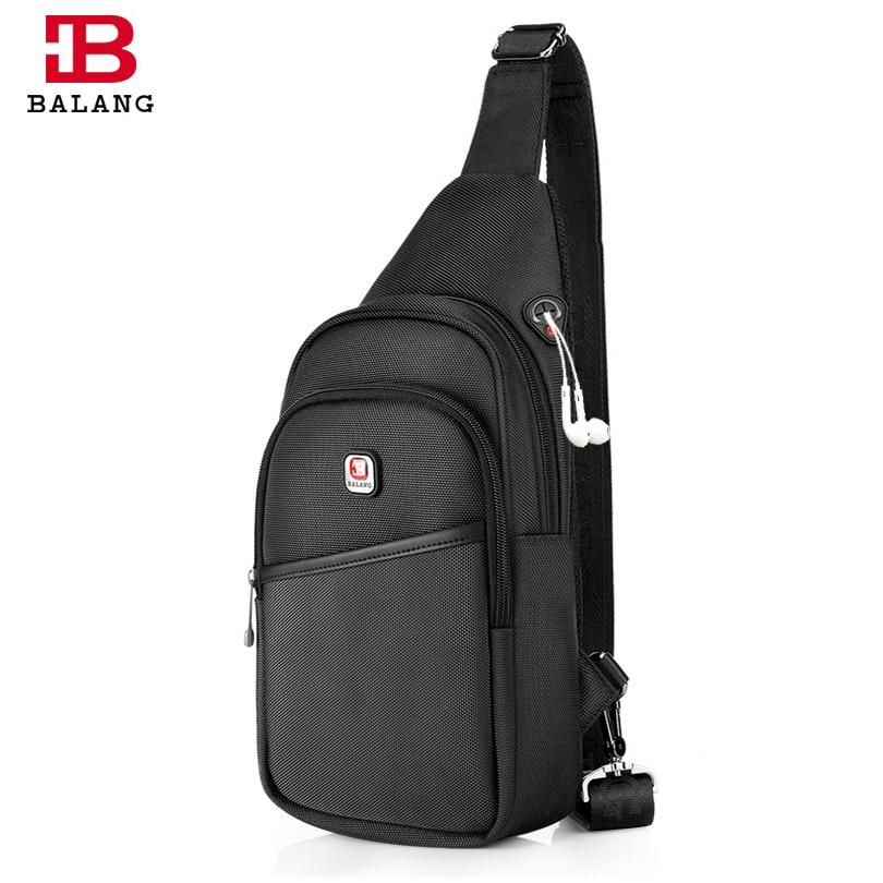 BALANG Men Casual Messenger Bag Fashion Shoulder Bag for Men Chest Pack Crossbody Sling Bag For Travel DayPack Male Waterproof
