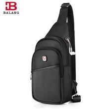 Balang Мужская Повседневная сумка моды сумка для мужчин Груди Пакет Кроссбоди Слинг Сумка для путешествий рюкзак мужской Водонепроницаемый