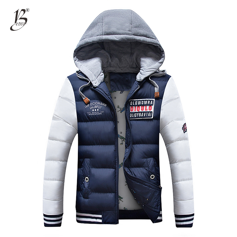 New Clothing Hot Selling Autumn Winter Men's Parka Men Casual Slim Fit Hood Warm Jackets Mens Lovers Coat Asia Size M-3XL 1588