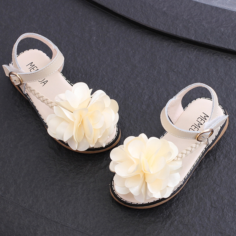 JD New Childrens Leather Sandals, Girls Fashion Flowers, Princess Shoes, Childrens Sandals