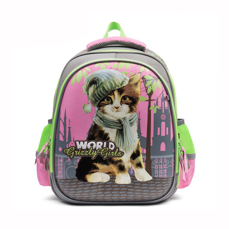 2019 NEW Orthopedic school bags for teenage girls lovely cartoon backpacks cat butterfly Waterproof School Backpacks Primary 1-5