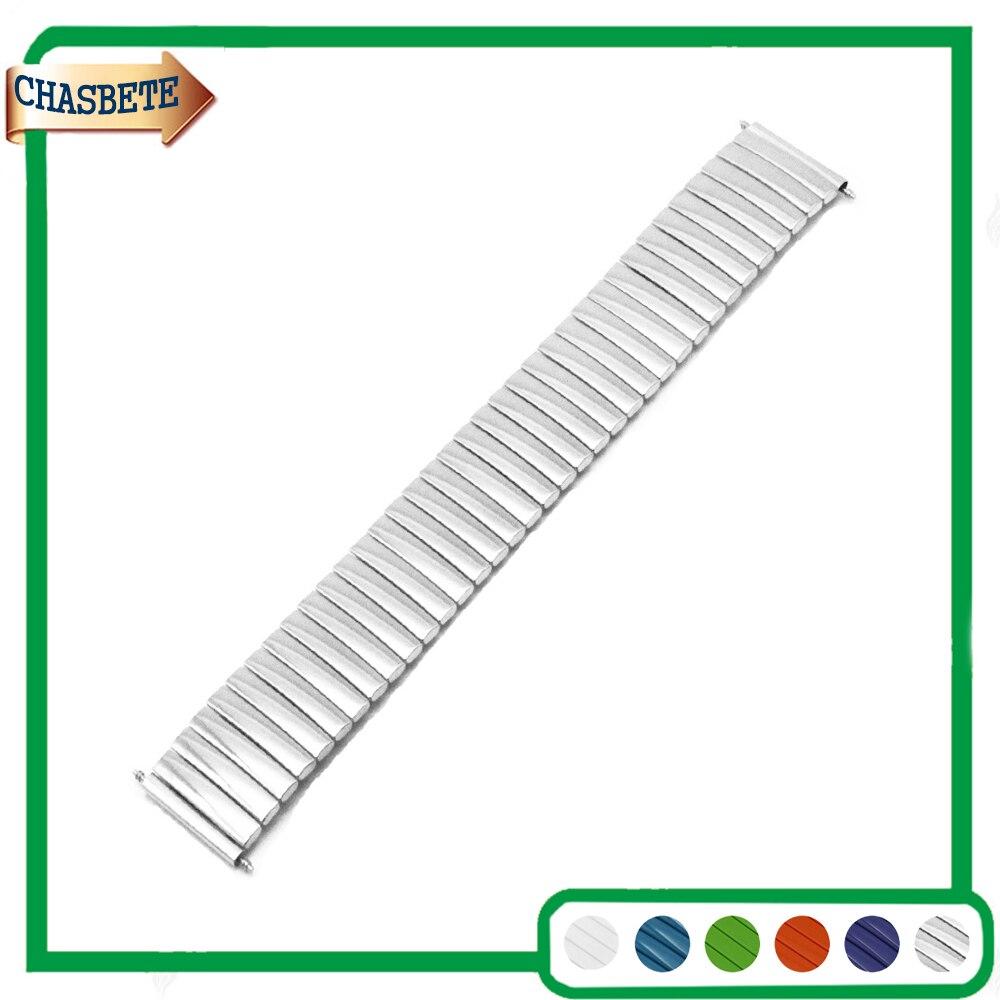 цена на Stainless Steel Watch Band for Orient Watchband 16mm 18mm 20mm 22mm 24mm Metal Elastic Strap Belt Wrist Loop Bracelet Silver