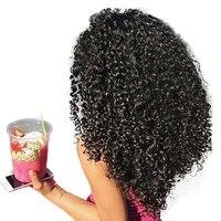 3B 3C Crépus Bouclés Clip Dans Les Cheveux Humains Extensions Miel reine Nautral Couleur Clip-en Pleine Tête 7 Pcs Remy Cheveux 120G