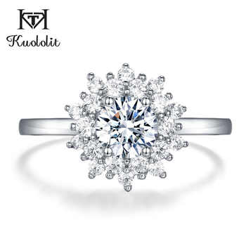 Kuololit Moissanite Rings for Women 925 Solid Sterling Silver Ring 0.8ct Moissanite Wedding  Engagement Band Fine Jewelry Gift - DISCOUNT ITEM  40% OFF All Category