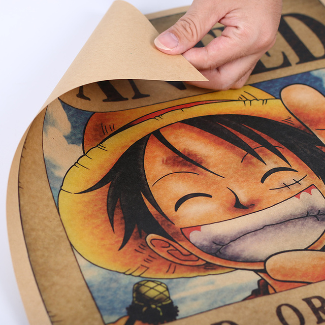 One Piece Luffy Cartel de Recompensa Póster