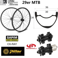 29er XC AM Mountain Bike Wheel Carbon MTB Wheelset Taiwan Powerway M42 Straight Pull Hub For Cross Country And All Mountain