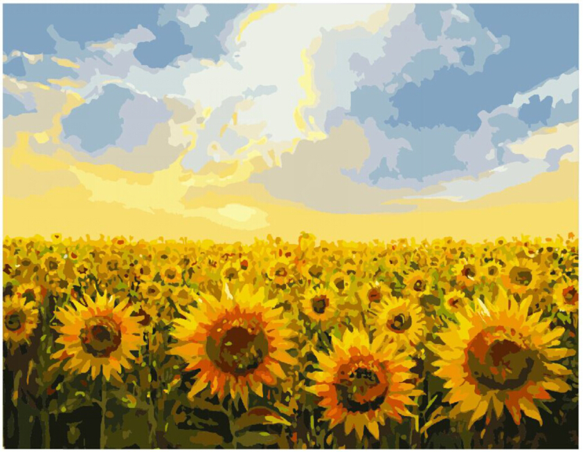 40X50CM DIY Digital Oil Painting Pictures On Canvas Coloring By Numbers  Home Decoration Wall Art Sunflower 15 Styles CX12 In Painting U0026 Calligraphy  From ...