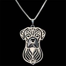 Bull Boxer pendant Silver Plated Necklaces Dog Pendants Women New Design Animal Boxer Jewelry Wholesale Stores New