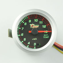 New 2 inches Stepper motor Colorful lights car Exhaust Gas temperature gauge Car modification EXT temp meter Self-test function