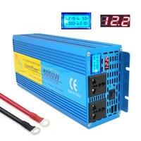 Чистая синусоида мощность inverte цифровой дисплей 5000 Вт MAX DC 12 В/24 В к AC 220 50 Гц/60 Гц Кемпинг лодка SINEWAVE