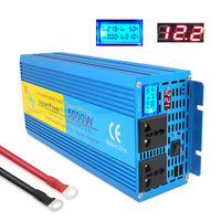 Pure sine wave Power inverte Digital Display 5000W MAX DC 12V/24V To AC 220V 50HZ/60HZ CAMPING BOAT SINEWAVE