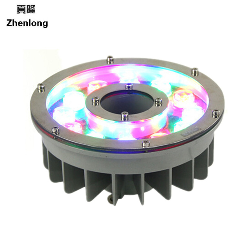 AC/DC24V RGB Led Pool Lighting Fountains Pool Lamp IP68 Underwater Lights Colorful Fountain Lights 9W Landscape Lights underwater lights rgb led swimming pool light 24v ip68 waterproof 27w 316 stainless steel colorful changeable fountain lamp