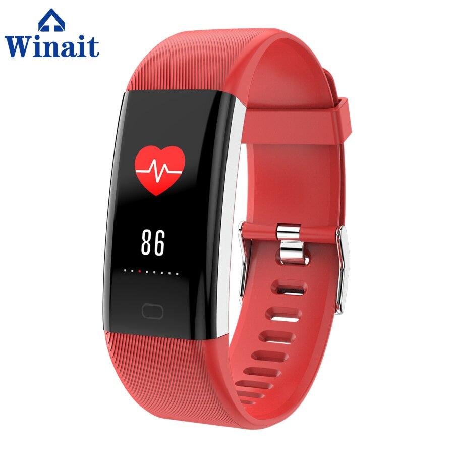 Winait F07 ip67 bracelet de sport étanche, affichage couleur/fréquence cardiaque/pression artérielle/oxygène sang numérique intelligent poignet bande fitness - 4