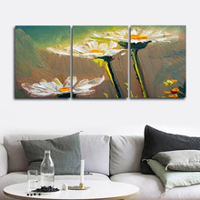 Laeacco White Flower Dandelion Posters and Prints Wall Art Canvas Painting Nordic Home Decoration Baby Bedroom Living Room Decor