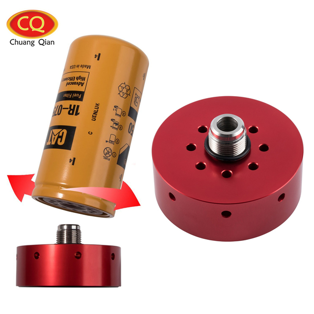 chuang qian accessories lb7 lly lbz lmm lml fuel filter adapter for  chevy/gmc duramax