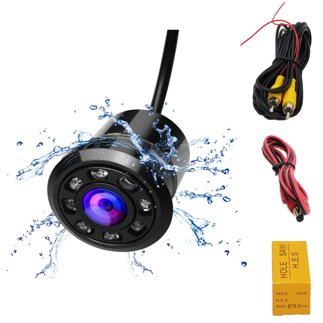 Car Waterproof Front and Rear Camera