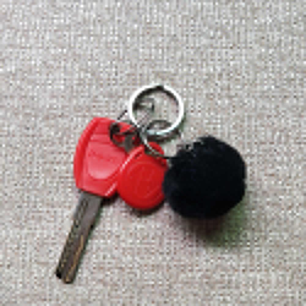 27 Cores Hot Sale Bugiganga Chaveiros Faux Pele De Coelho Pompons Keychain Macio Chaveiros Trinkets Keychain para DIY 4 cm Llaveros