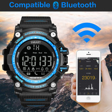GIMTO Brand NEW Sport Watch Men Digital Clock Smartwatch Waterproof Shock Male Black Military Watches LED Bluetooth Wristwatch