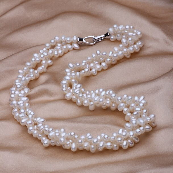 [MeiBaPJ] 925 Silver 100% White Natural Freshwater pearl Jewelry Sets Real pearl Necklace Bracelet Jewelry Sets for women