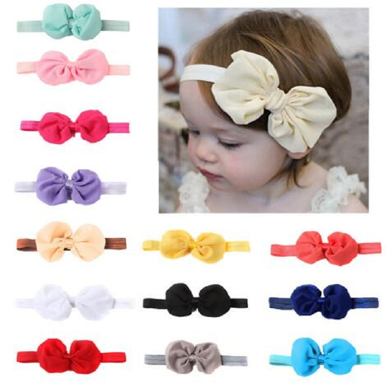 Baby Girl Headband Elastic Headwear Hair Band Bow Hairband Headpiece Accessories