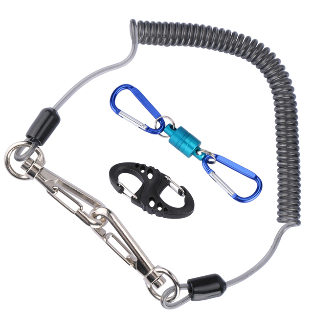 Goture Fishing Tackle Accessories Set Fishing Lanyard Ropes + Magnetic Buckle+ 8-Shape Fast Buckle for Fishing