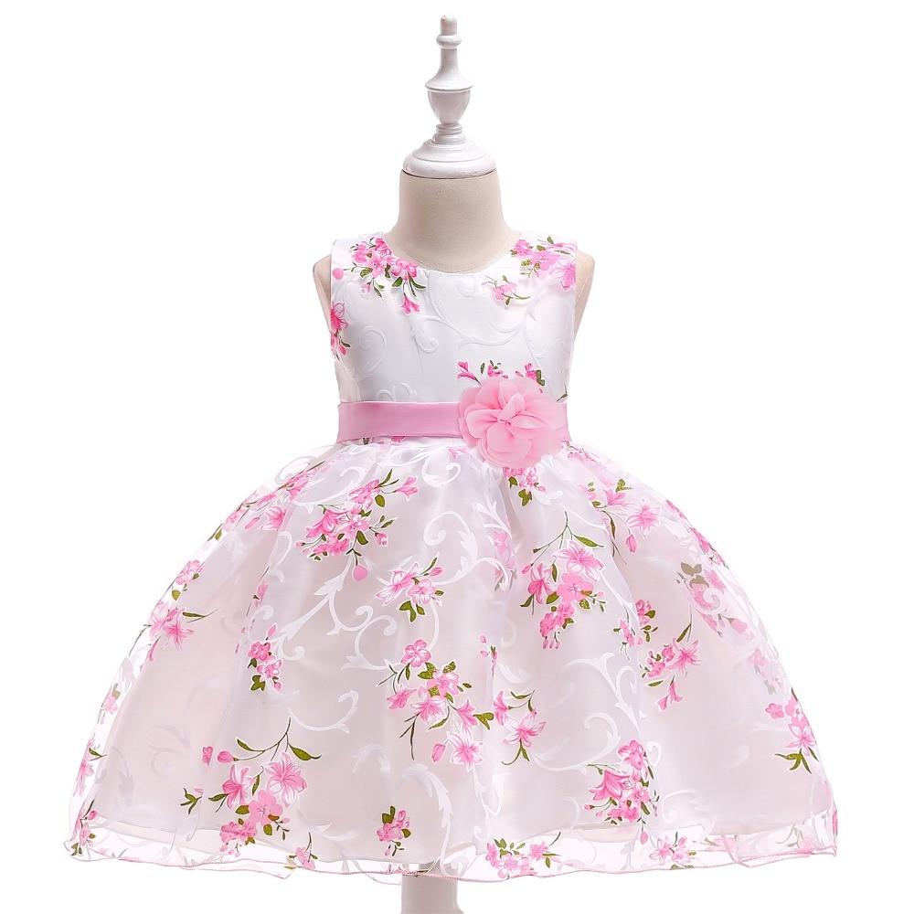 vestidos de primera comunion blanco Rose High Quality Pretty   Flower     Girl     Dresses   Cap Sleeves Wedding Party Princess   Dress
