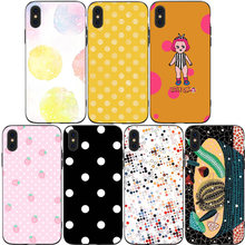 Cute Polka Dot  Phone Cases Cover for iphone X XR XS MAX 6 6s 7 8 Plus TPU Cover Coque For iphone 7 8Plus iphone 5SE Cases rick and motry phone cases cover for iphone x xr xs max 6 6s 7 8 plus tpu cover coque for iphone 7 8plus iphone 5se cases