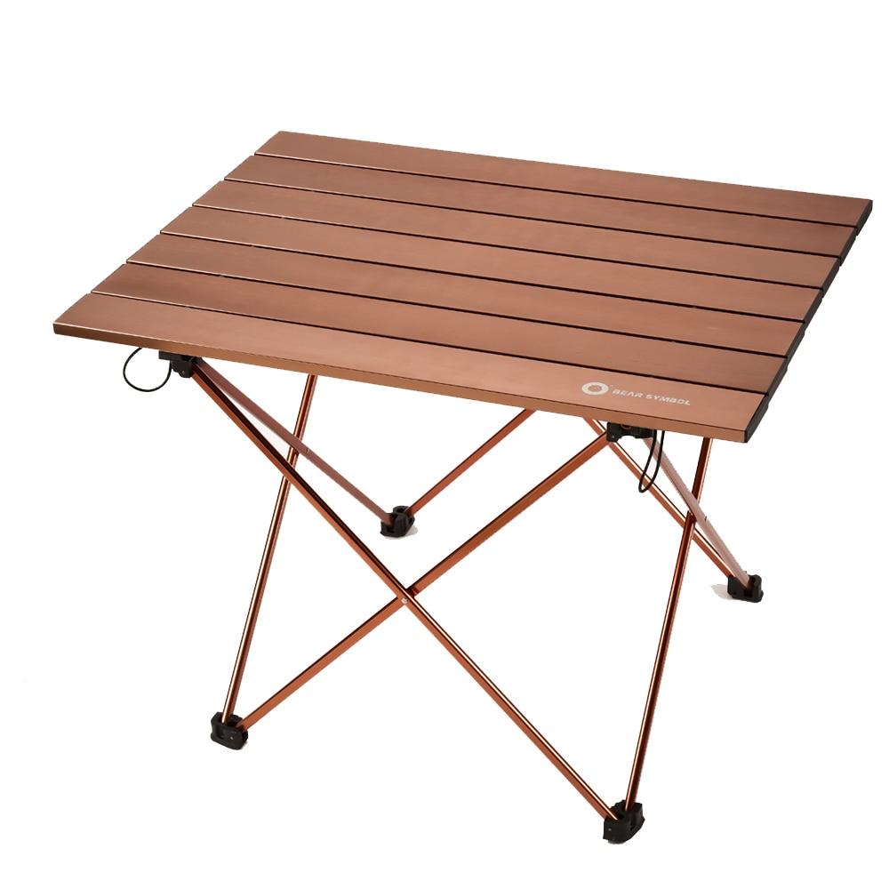 Tavolo Da Campeggio Alluminio.Tavolo Pieghevole Per Esterni Ultra Luce Portatile In Lega Di