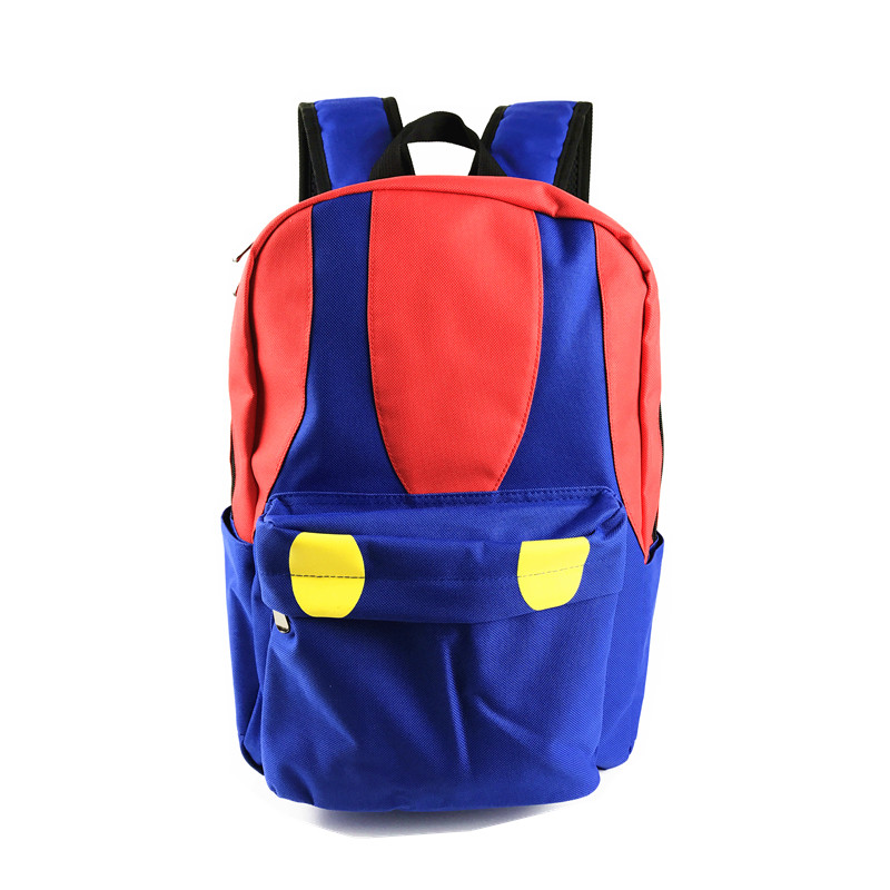 Free Shipping Super Mario Backpack Super Mario Bros Color Mushroon Design School Bag for Mario Fans super mario bros plush green shell backpack bag purse cosplay super funny and cool rare