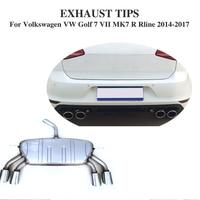 Stainless Steel Auto Car exhaust system Exhaust manifold for Volkswagen VW Golf7 MK7 R RLINE bumper 2014 2017