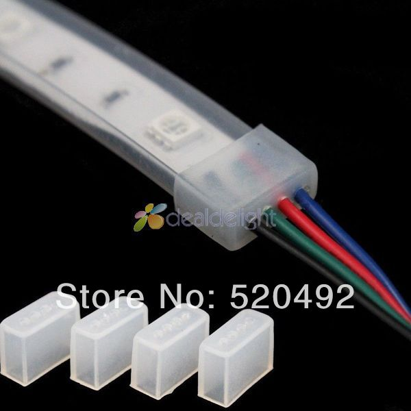 100Pcs Silicone End Cap Cover For 10mm 3528 5630 5050 IP67 IP68 LED Strip Light