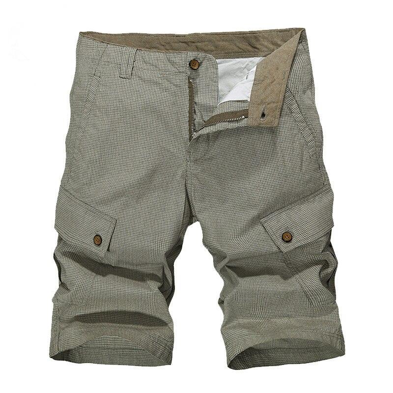 cf2e7111ecc AFS олень мужские шорты прямо по колено на молнии шорты плюс размер 2017  бренд моды случайные в клетку бермуды Masculina