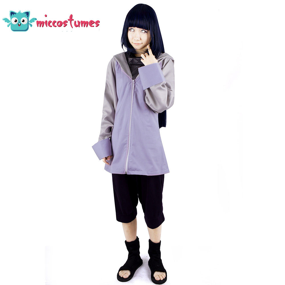 Anime New Hot Naruto Hyuuga Hinata Cosplay Costume Halloween Party Abbigliamento