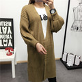 De DoveKorean version of the fall and winter in wind was thin loose knit sweater coat long sweater female cardigan female