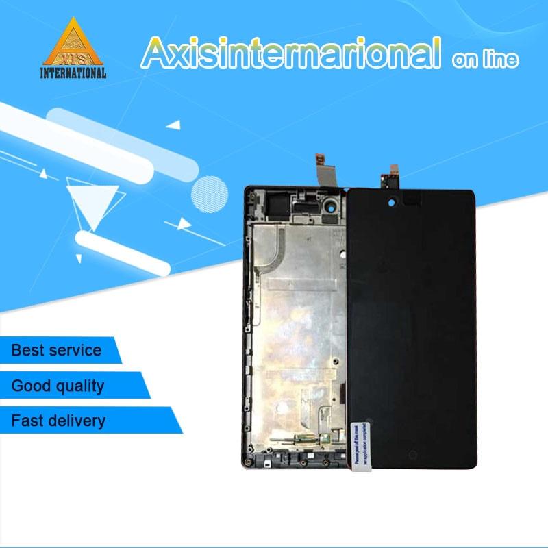 Z9 Axisinternational Original Para ZTE Nubia mini NX511j LCD screen display + digitador touch com quadro para Nubia Z9 mini NX511J