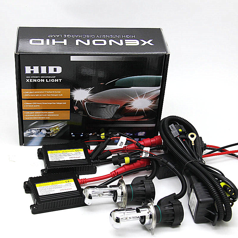 Xenon H4 DC 55W Slim Ballast kit HID Xenon Headlight H4 3 9004 9007 H13 high