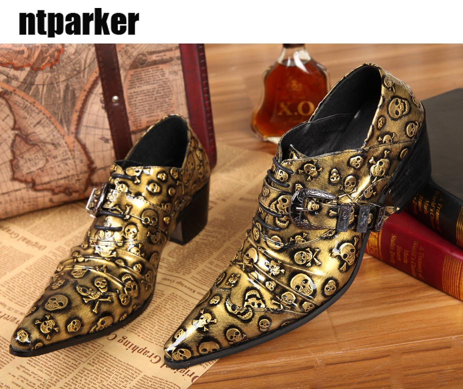 ntparker YHandmake High Quality Men Leather Shoes Formal Dress Shoes Men  Gold/Black Skull Business - Online Get Cheap Gold Formal Shoes -Aliexpress.com Alibaba Group