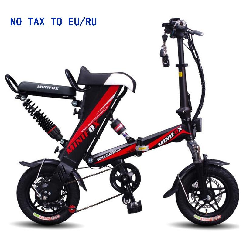 2018 MINI e-bike Vélo Électrique Pliant 48V12A Batterie Au Lithium 350 w Vélo Électrique Scooter vélo livraison gratuite PAS TAXE AUX ETATS-UNIS