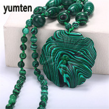 Yumten Women Pendant Fine Necklace Jewelry Malachite Hand Carved Popular Fashion Gift Luna Linkin Warcraft Sailor Rosary Viking