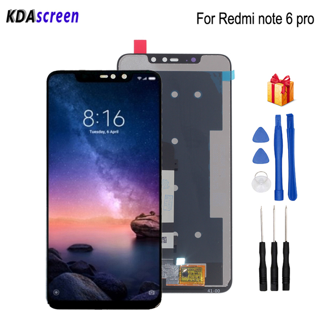 For Xiaomi Redmi Note 6 Pro LCD Display Touch Screen Digitizer Phone Parts For Redmi Note 6 Pro Screen LCD Replacement Tools